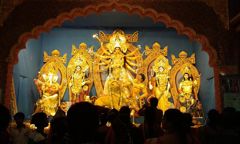 Durga Puja em Bengal ocidental foto de stock