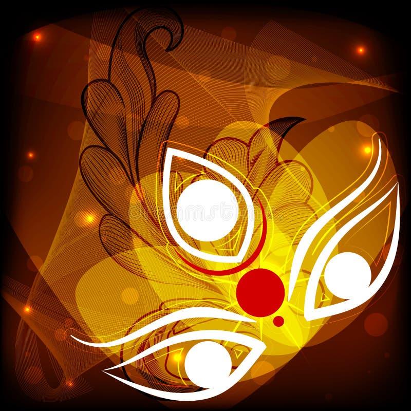 Durga Puja feliz libre illustration