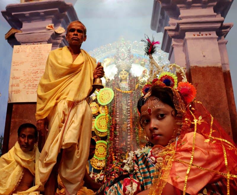 Durga Puja festival royaltyfri foto