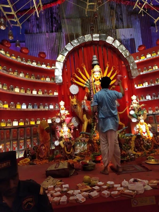 Durga puja in Kolkata at West Bengal in India stock images