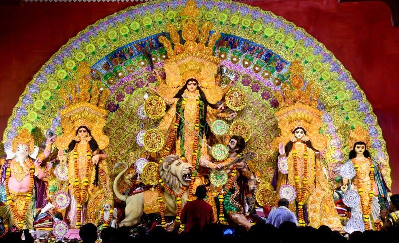 Durga Puja Pandal στοκ φωτογραφία με δικαίωμα ελεύθερης χρήσης