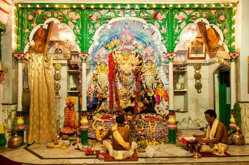 Durga Puja-ritueel royalty-vrije stock fotografie
