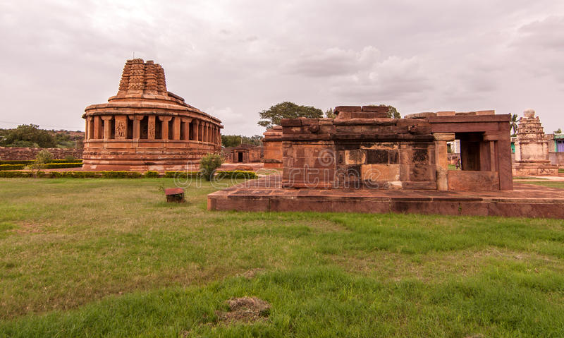 Durga temple at Aihole royalty free stock photography