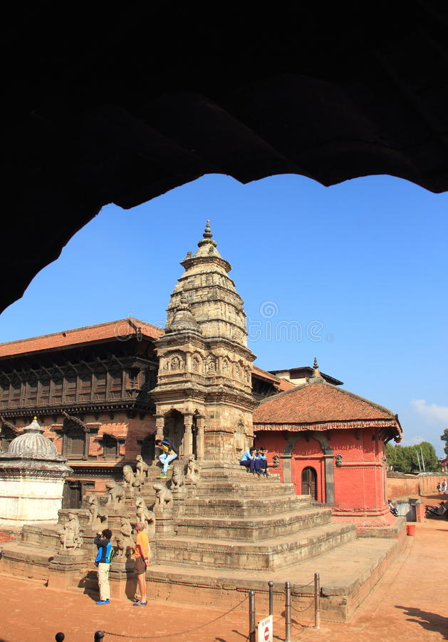 Durga Temple In Bhaktapur Durbar Square, Nepal. royalty free stock images