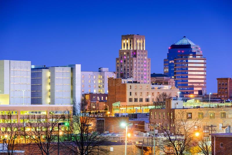 Durham, Carolina Skyline del norte imagen de archivo libre de regalías