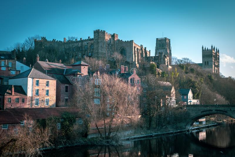 Durham Castle and Durham Cathedral royalty free stock photos