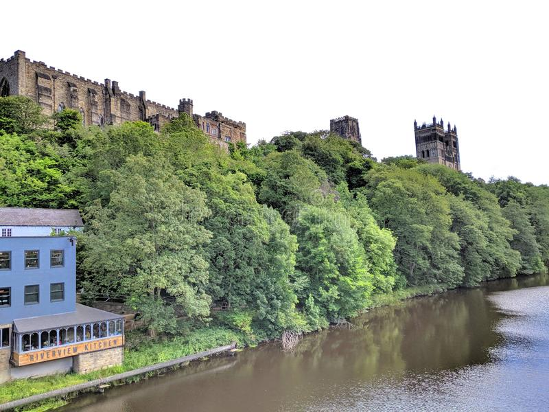 Durham Cathedral and Castle on the River Wear royalty free stock image