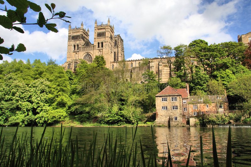 Durham Cathedral on the River stock photo
