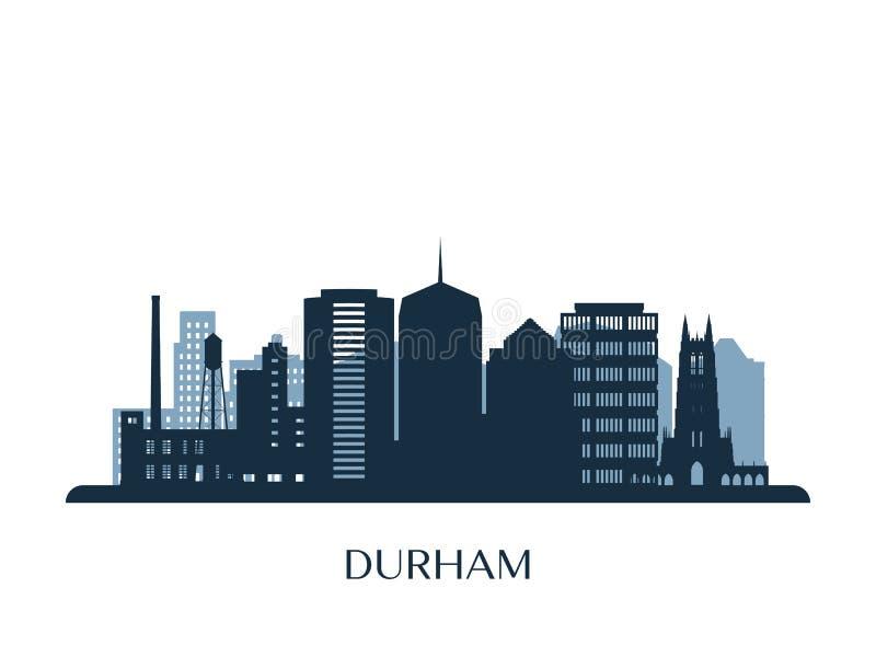 Durham horisont, monokrom kontur vektor illustrationer