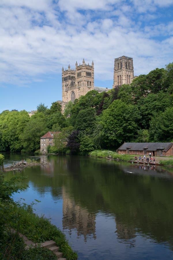 Durham katedra nad Rzeczną odzieżą zdjęcie royalty free