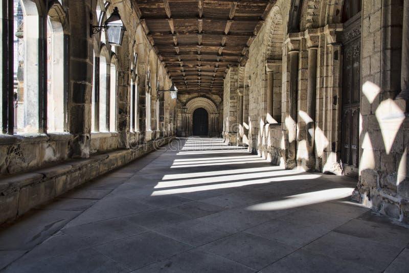 Durham katedry cloisters fotografia stock