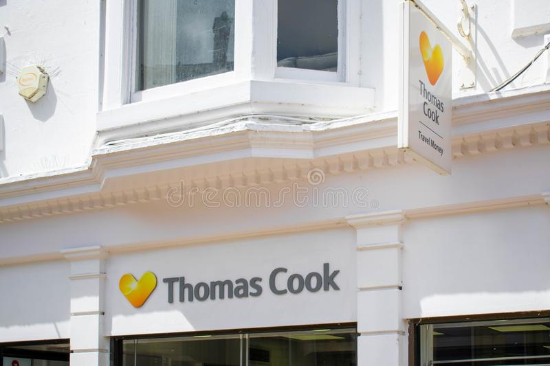 Thomas Cook Group plc is a British global travel company selling holidays and foreign currency stock images