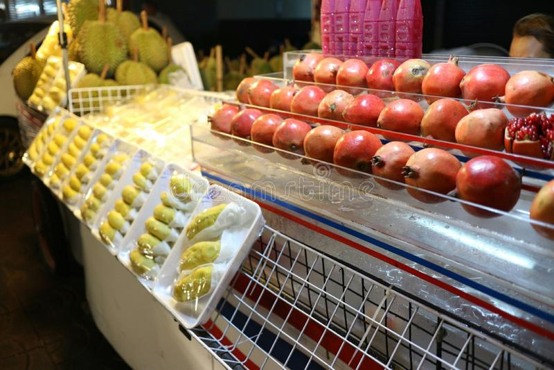 Durian en robijn royalty-vrije stock afbeelding
