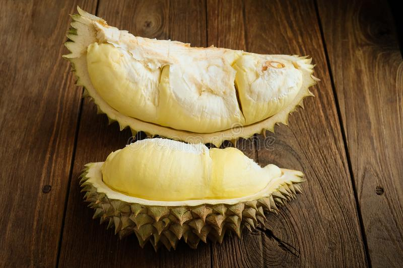 Durian is king of fruit in Thailand stock photos