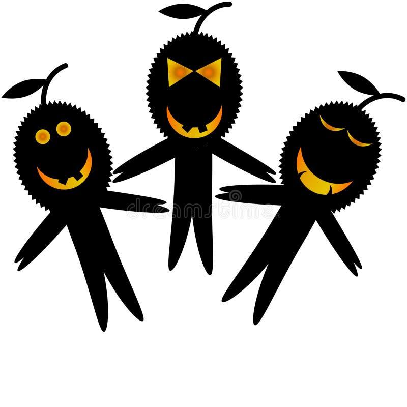 Durian kreskówka Halloween obrazy stock