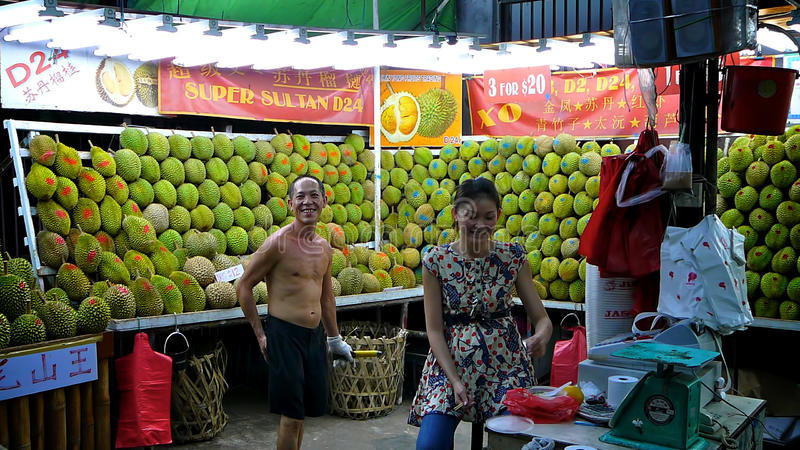 Durian Market royalty free stock images