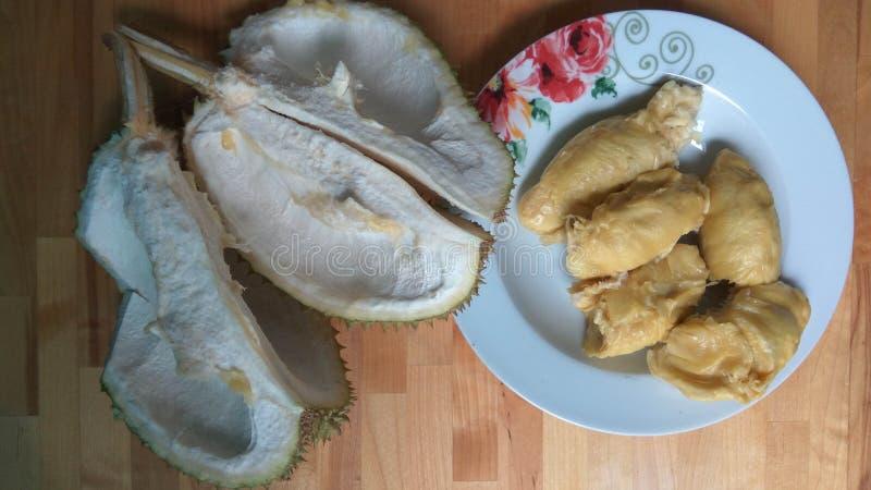 durian owoc odosobniona fotografia tropikalna zdjęcia stock