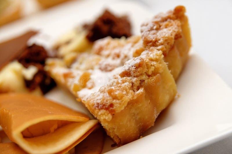 Durian pancake and apple tart stock photography