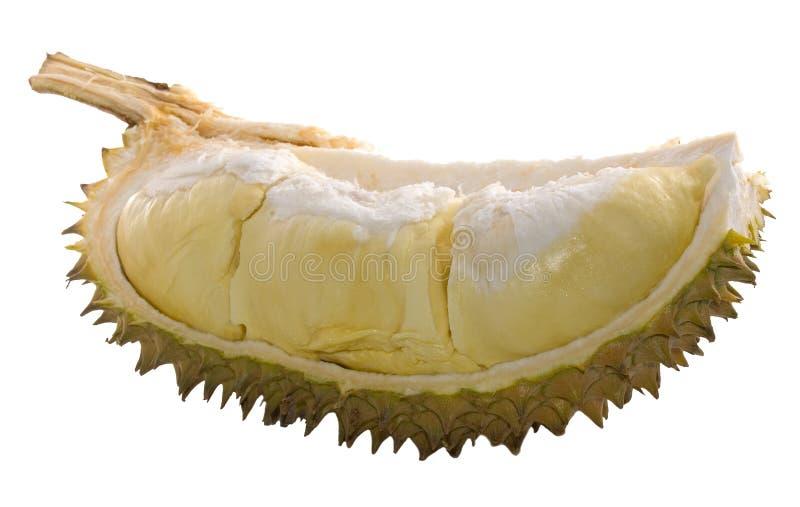 durian pokroić odizolowane zdjęcia royalty free