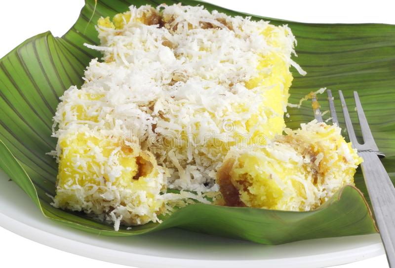 Durian popolare di Kuih Putu Bambu immagini stock