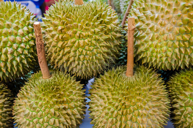 Durian On Sales Stock Photo