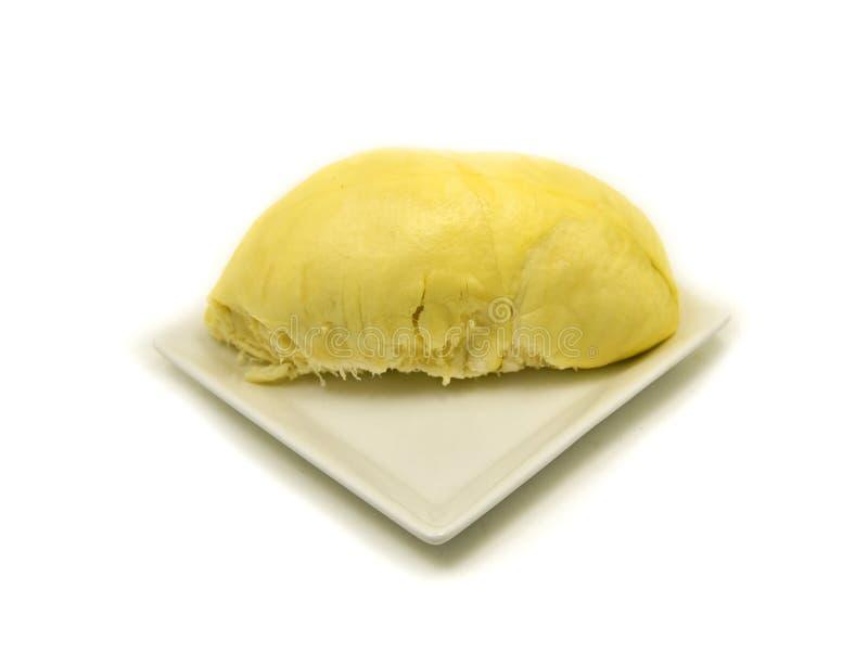 Durian sur le blanc image libre de droits