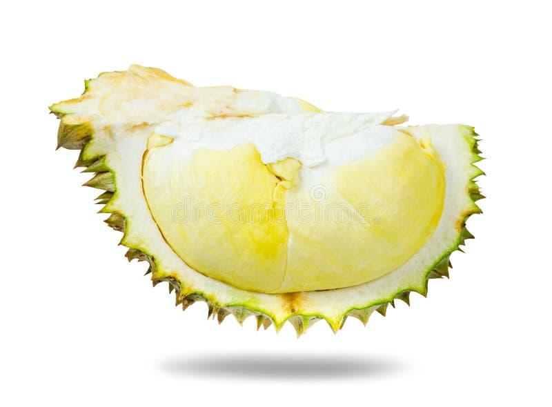 Durianfruit op wit wordt ge?soleerd dat royalty-vrije stock foto's