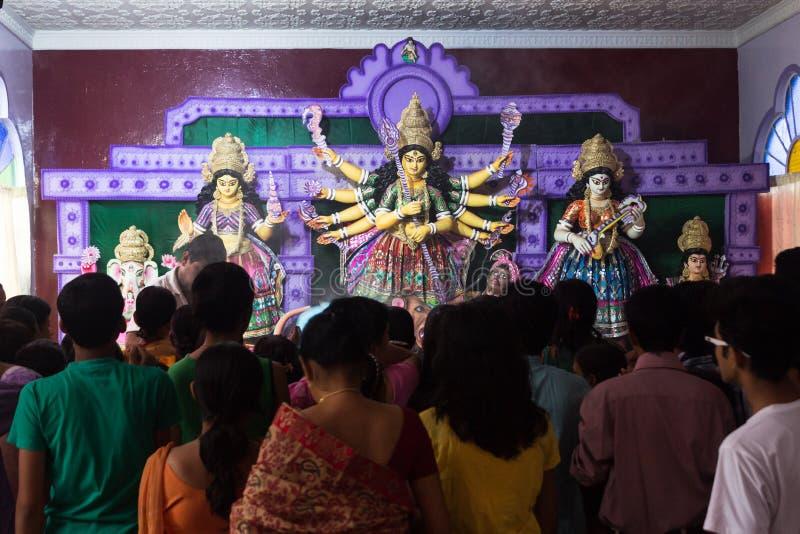 Durja Pooja, festival de Dussehra, Inde image stock