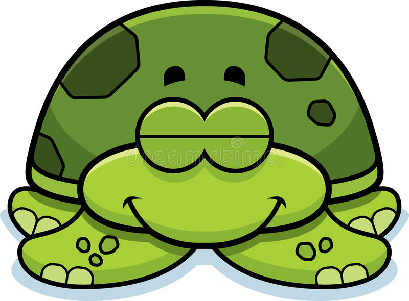 Durmiendo poca tortuga de mar ilustración del vector