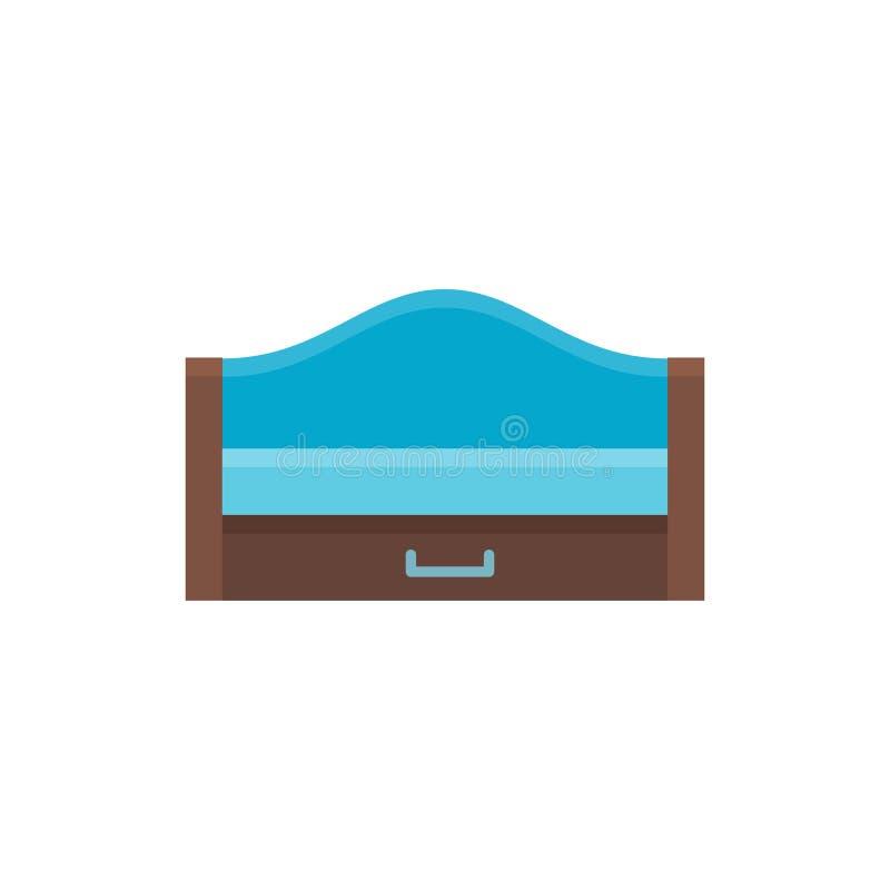 Durmiente extraible de madera Ilustración del vector Icono plano del azul ilustración del vector
