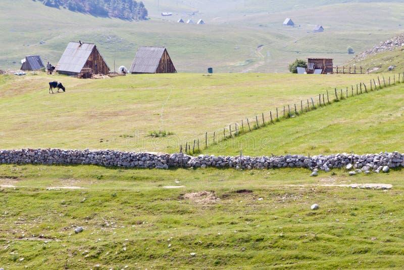 durmitor小的村庄 免版税图库摄影