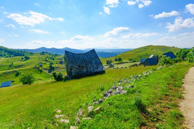 durmitor的村庄 免版税库存照片