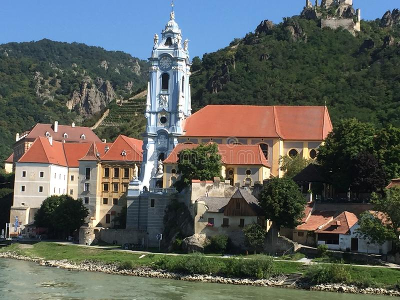 Durnstein Áustria Danúbio imagem de stock royalty free