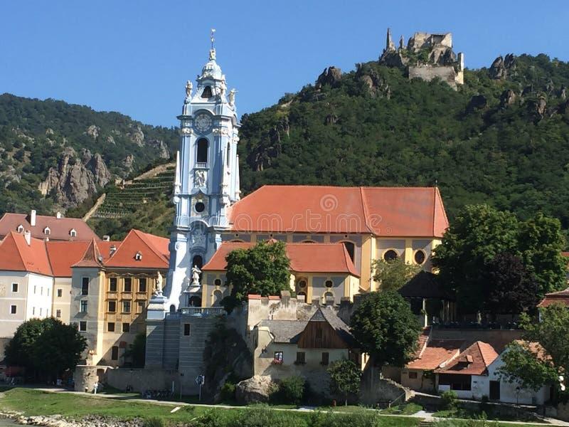 Durnstein Áustria Danúbio imagens de stock royalty free