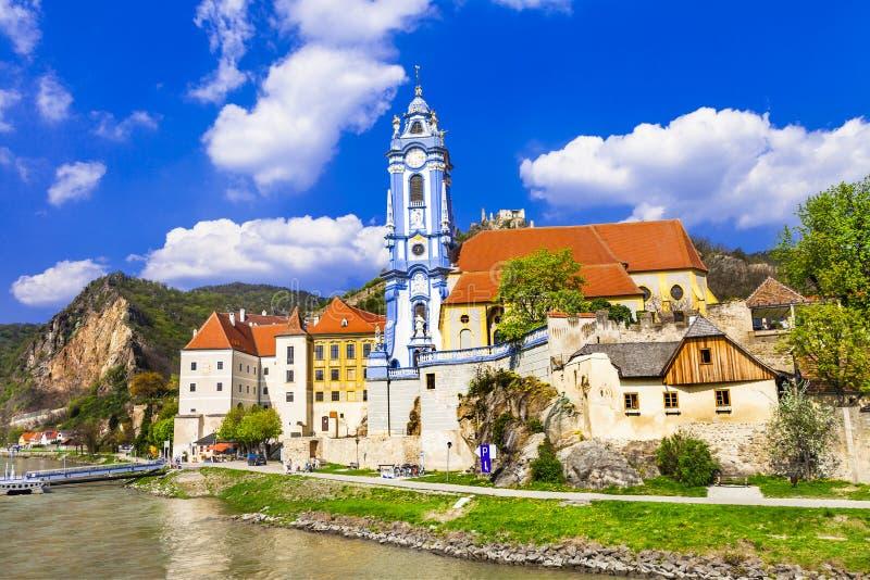 Durnstein , lower Austria. Wachau valley stock photo