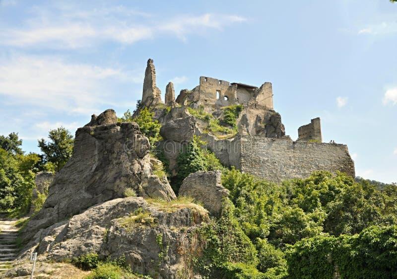 Durnstein-Schloss Österreich stockfotos