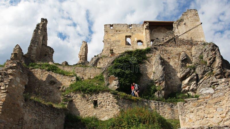 Durnstein slott i den Wachau dalen, Österrike royaltyfri fotografi