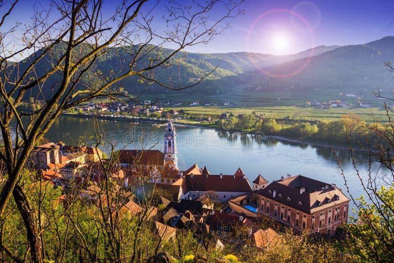 Durnstein, valle de Wachau austria imagen de archivo