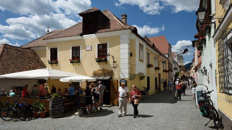 Durnstein, Wachau, Österreich stockbild