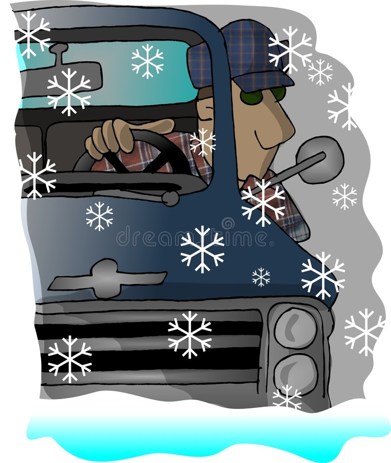 Duro conduzca a casa stock de ilustración
