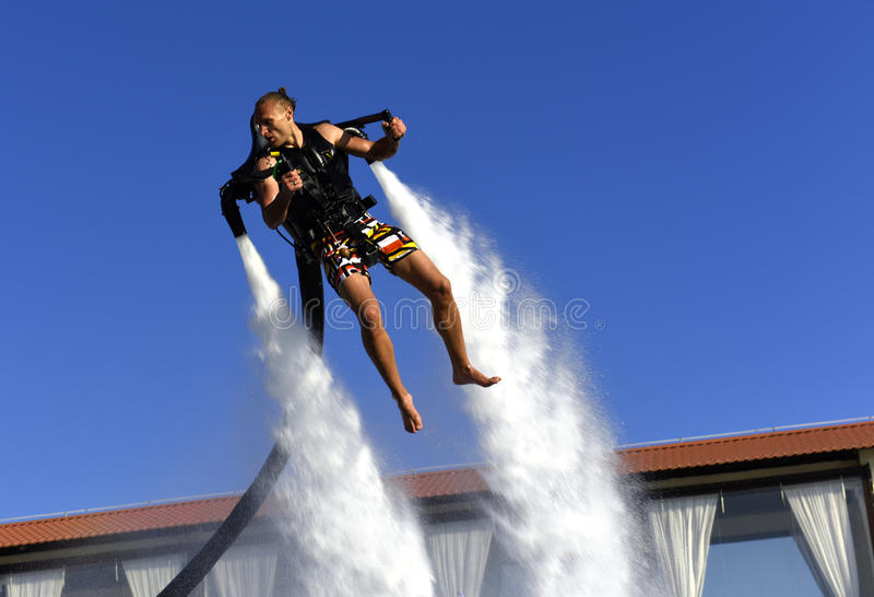 Durvende vliegende mens royalty-vrije stock foto