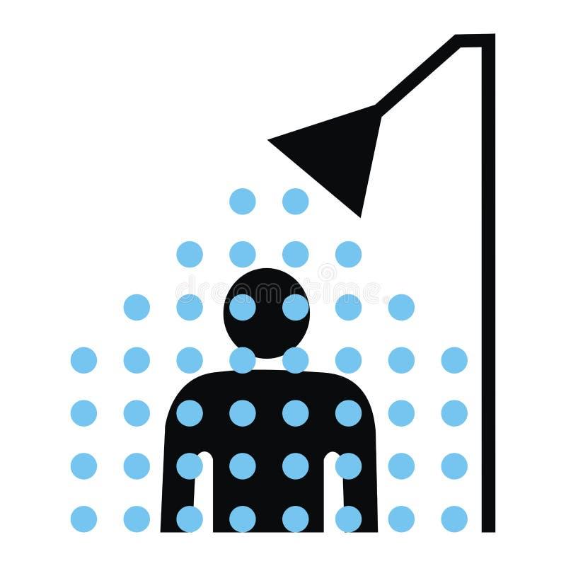 dusch royaltyfri illustrationer