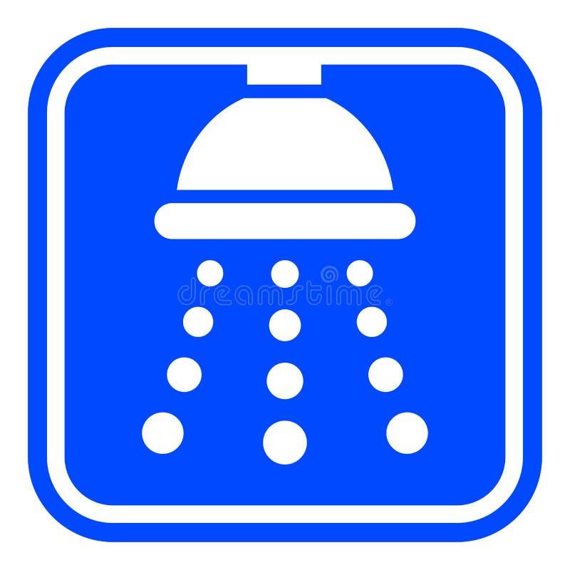Duschblaue und weiße Ikone stock abbildung