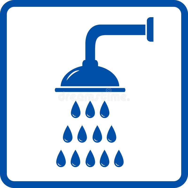 Dusche mit Wassertropfen lizenzfreie abbildung