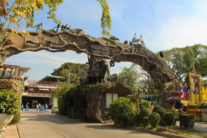 Dusit zoo w Bangkok, Tajlandia zdjęcia stock