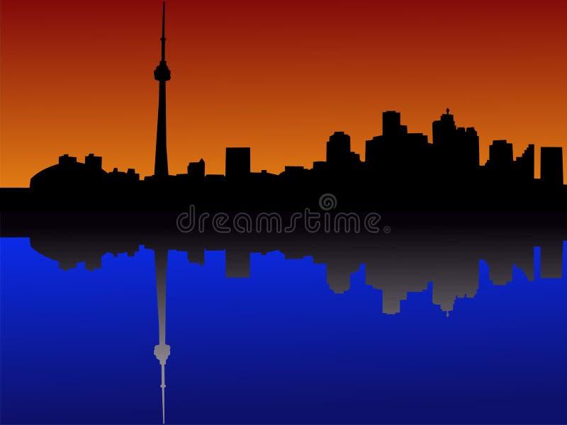 dusk ορίζοντας Τορόντο απεικόνιση αποθεμάτων