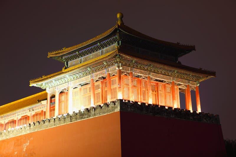 dusk πόλεων του Πεκίνου Κίνα &p στοκ φωτογραφία