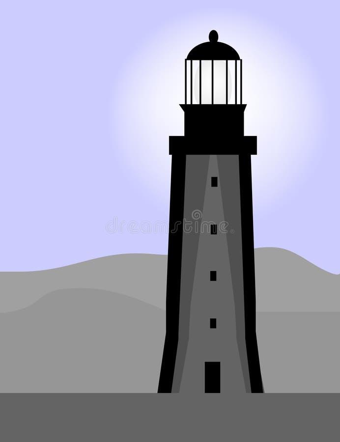 dusk φάρος διανυσματική απεικόνιση