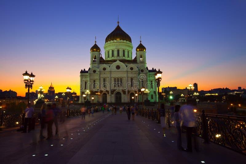 dusk Χριστού καθεδρικών ναών savior στοκ εικόνα με δικαίωμα ελεύθερης χρήσης