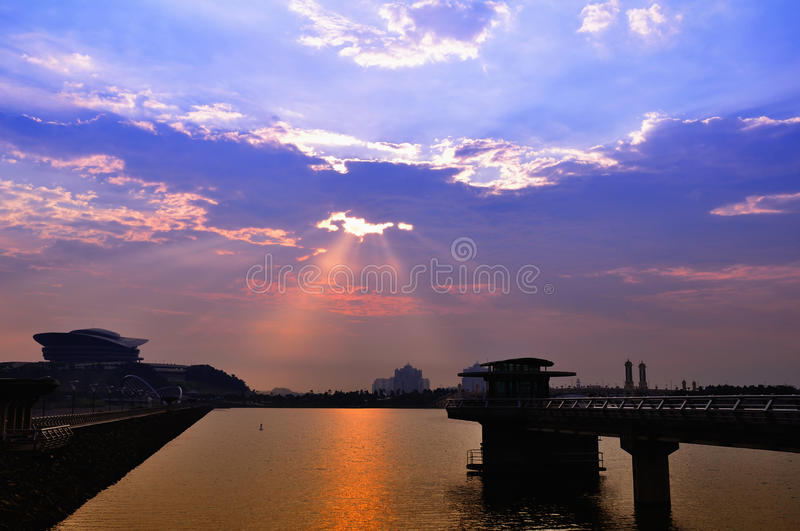 Download Dusk stock image. Image of saturated, lakes, nature, ship - 18377731